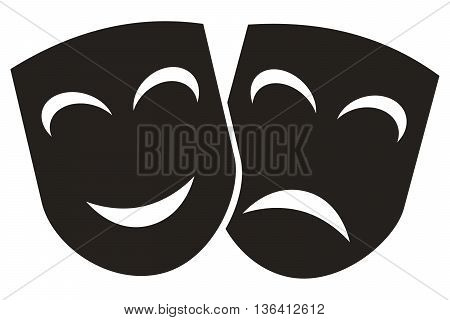 Masks icon theatrical performance movie theater symbol computer icon