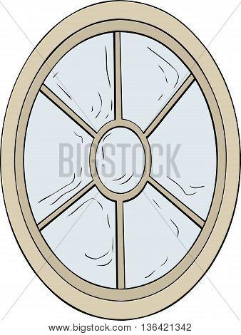 Oval Shaped Window Illustration