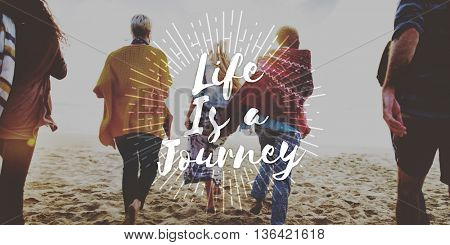 Life is a Journey Explore Trip Destination Traveling Adventure Concept