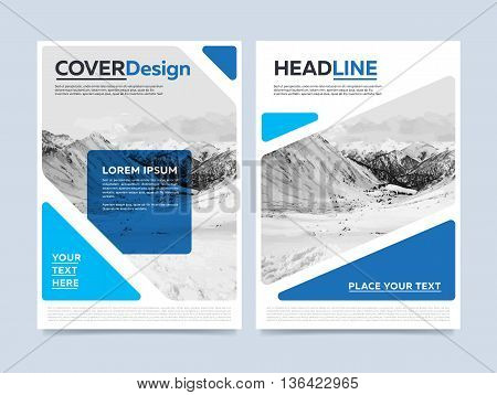 Cover design concept. Annual report flyer. Brochure layout. Brochure design template. Leaflet layout. Annual report template. Business brochure. Annual report cover design. Blue brochure design. Creative brochure cover. Brochure template.