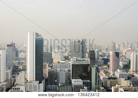 City View Urban Downtown Business District Concept