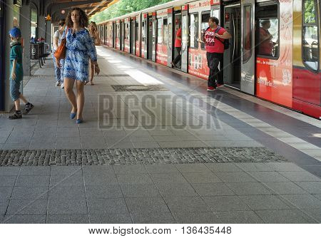 S-bahn (meaning S-train) In Berlin