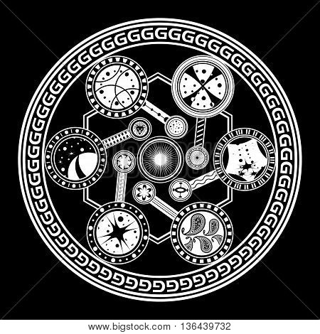 Fate wheel for watch . Vector illustration