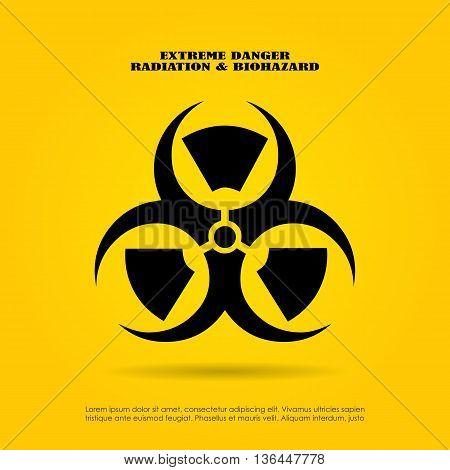 Extreme danger symbol radiation and biohazard mix