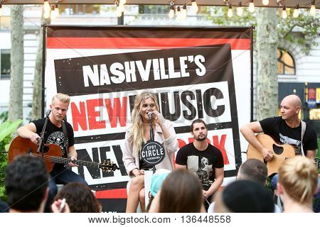 NEW YORK-SEP 9: Singer Kelsea Ballerini performs at Nashville's New Music in New York at the Southwest Porch at Bryant Park on September 9, 2015 in New York City.