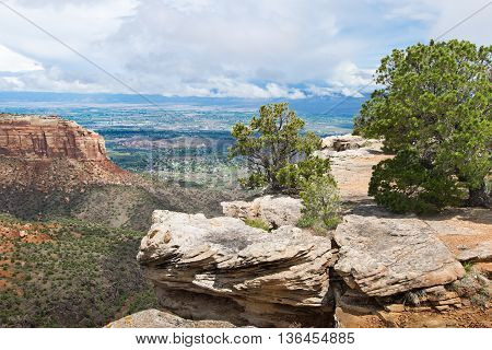 Landscape In Colorado National Monument  In Usa