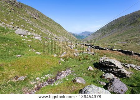 Kirkstone Pass in the Lake District Cumbria