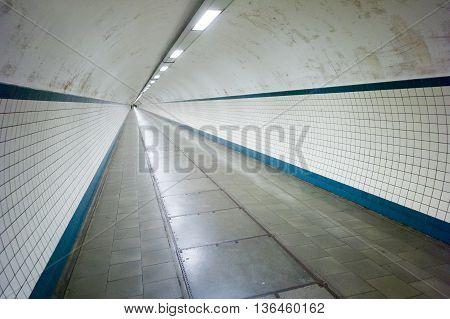 View of st. Anna tunnel under the Scheldt river