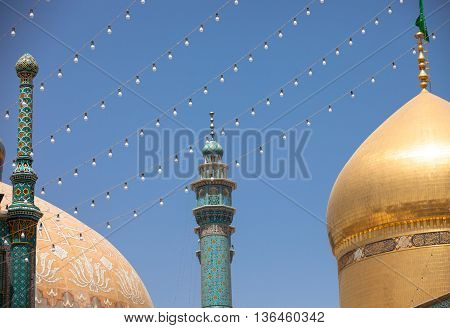 Mosque in Qom the sacred city Iran