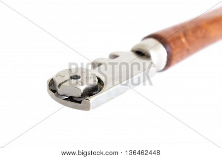 Glass Cutter - Tool For Cutting Glass Isolated On White Background