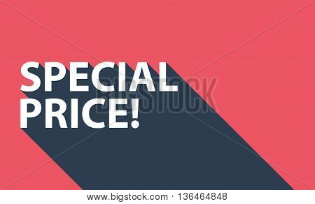 Business concept with text Special Price! and long shadow. Vector illustration.