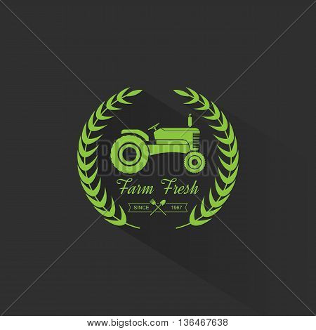 Retro farm fresh labels, farm fresh logo design. vector