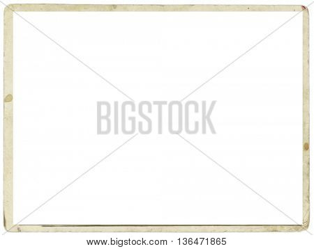 Blank white sheet with old stained edges for a photograph