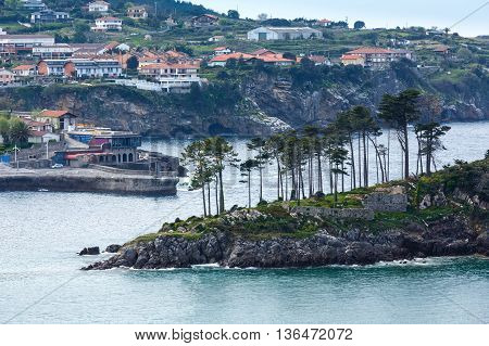Lekeitio Town Coastline, Biscay, Spain.