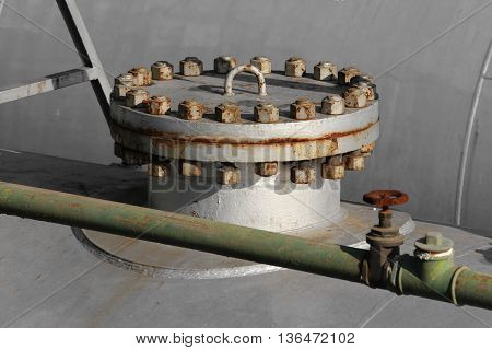 Cover Of Gigantic Pressure Vessel