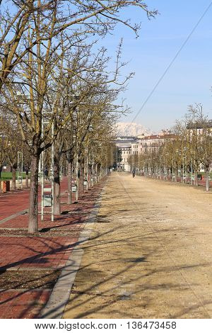 Public Park Called Campo Marzo In Vicenza, Italy