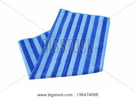 A beach striped towel, isolated a white background