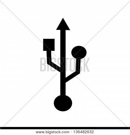 an images of usb icon Illustration design