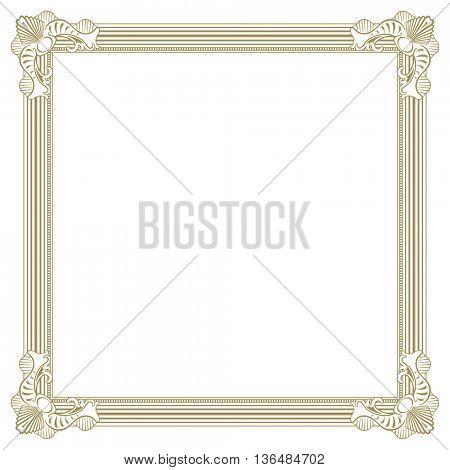 Beige colored ornate photo frame for artwork