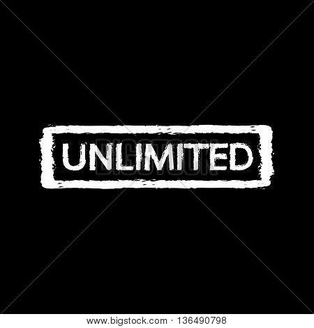 an images of Unlimited stamp Illustration design