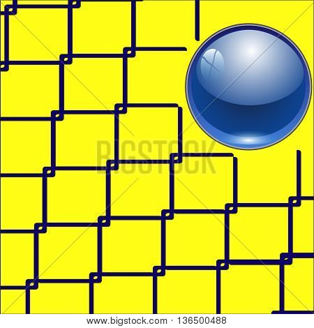 Techno background with glossy button. Metal banner with huge space for information.