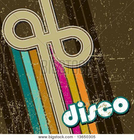retro disco style