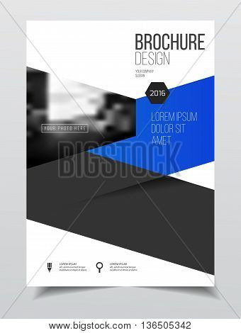 Catalogue Cover Design. Annual Report Vector Illustration Template. A4 Size Corporate Business Catal