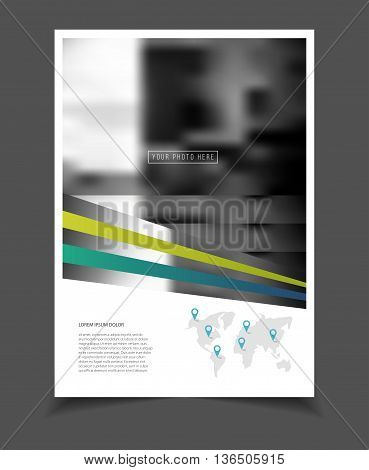 Annual Report. Leaflet Brochure Flyer Template A4 Size Design, Business Catalogue Cover Layout Desig
