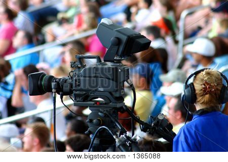 Commercial Video Camera And Operator