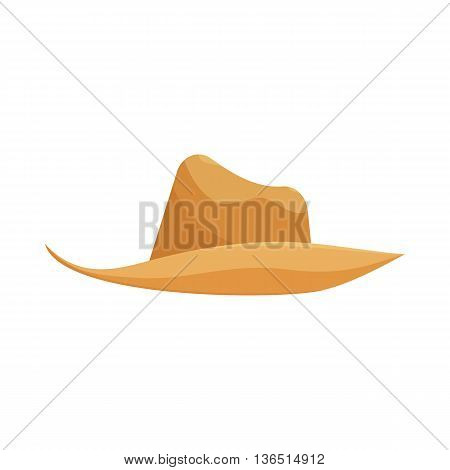 cowboy hat closeup isolated on a white background cartoon vector illustration