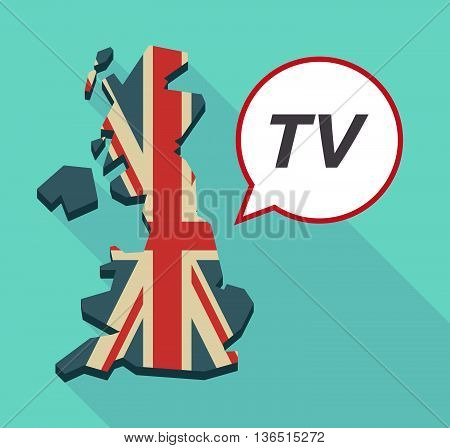 Long Shadow United Kingdom Map With    The Text Tv