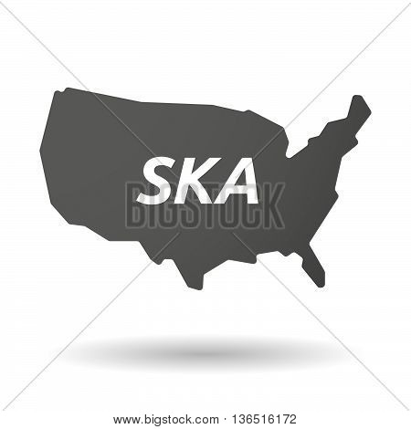Isolated Usa Map Icon With    The Text Ska