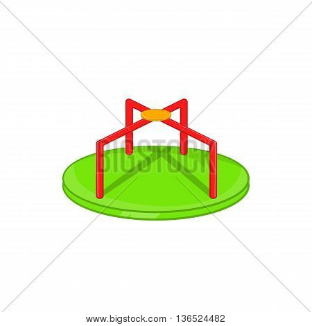 Round teeter icon in cartoon style isolated on white background. Entertainment for children symbol