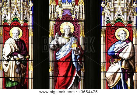 stained glass windows of a god