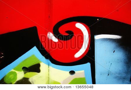 abstract swirl graffiti