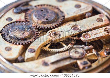 Rusty Gears In An Old Pocket Watch