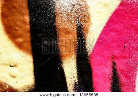 Abstract Macro Graffiti image
