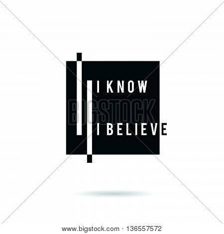 Know And Belive Icon Illustration