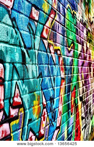 Pretty graffiti image, for use as background or wallpaper.