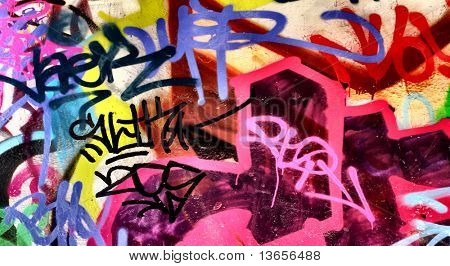 Harsh graffiti image