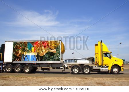 Semi Truck Container Xmas