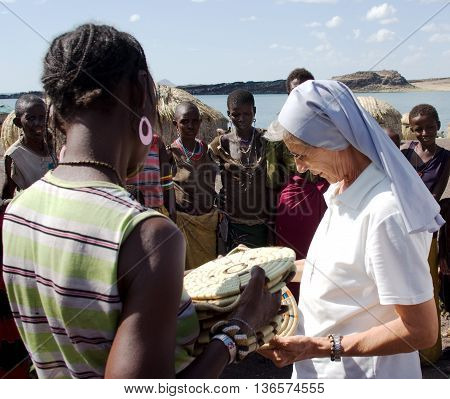 Nuns Of Christian Church Buy Handicrafts African Tribe
