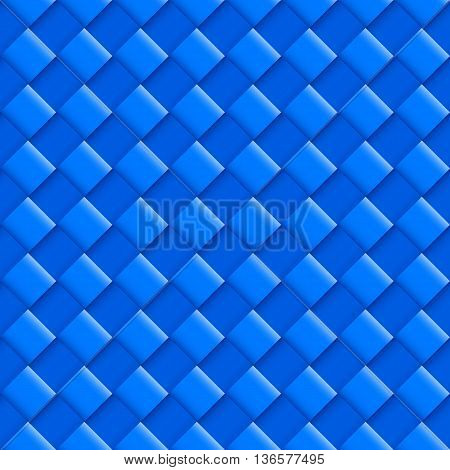 Blue Seamless Pattern with Convex Square Design