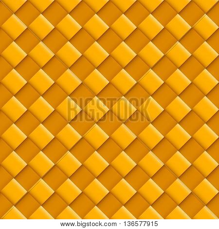Orange Seamless Pattern with Convex Square Design