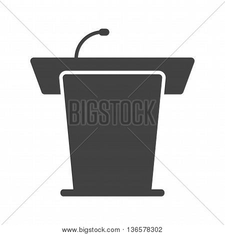 Podium, public, speaker icon vector image. Can also be used for elections. Suitable for use on web apps, mobile apps and print media.