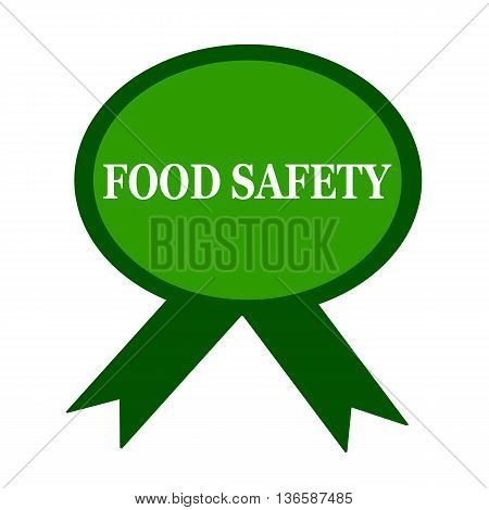 food safety white wording on background green ribbon