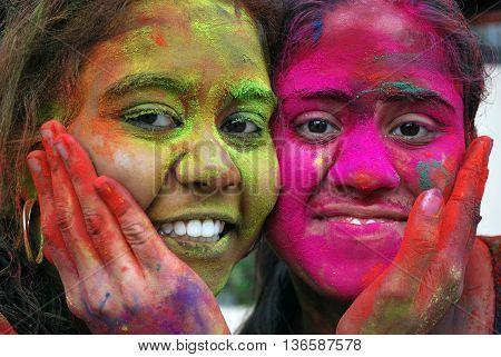 KUALA LUMPUR, MALAYSIA - MAR 20: Unidentified People celebrated Holi Festival of Colour, Mar 20, 2011 in Kuala Lumpur, Malaysia. Holi festival of colour, being one of the biggest festivals in Malaysia.