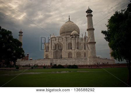 View of Taj Mahal in Agra India