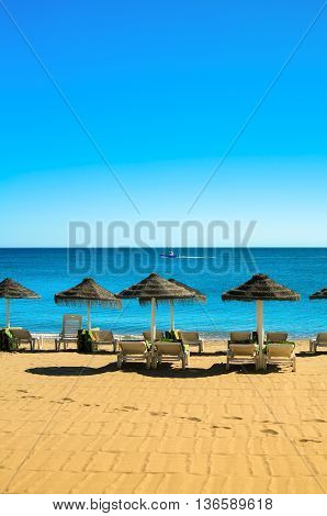 Beach In Fuengirola, Costa del Sol, Andalusia, Spain