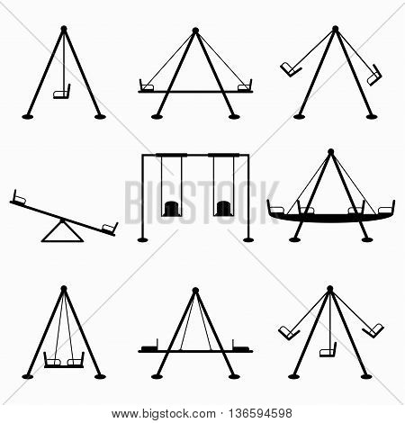 teeter collection of symbols vector illustration abstract high quality
